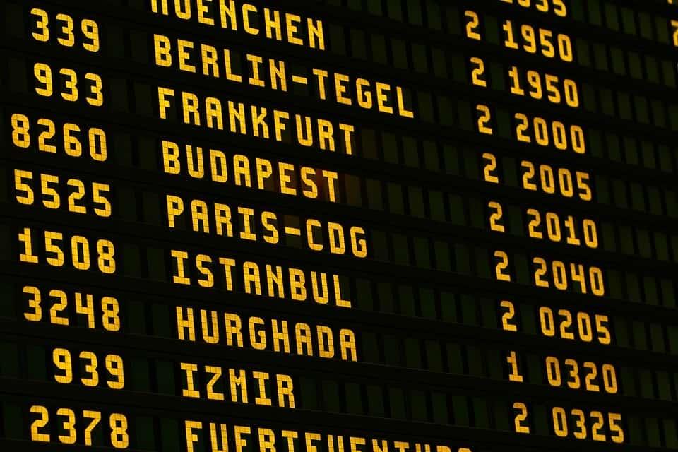 Airport, Board, Flying, Scoreboard, Letters, Ad